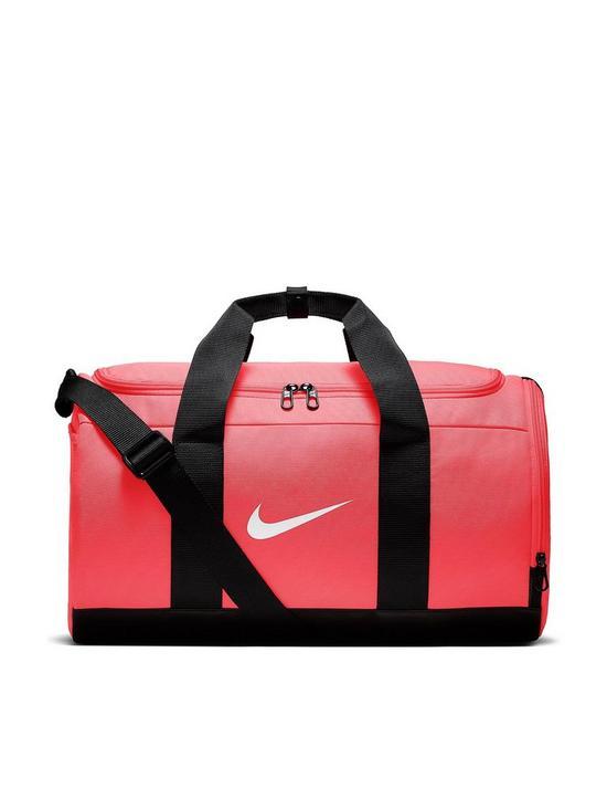 Nike Team Duffel Bag - Pink Black  017720bd270b3