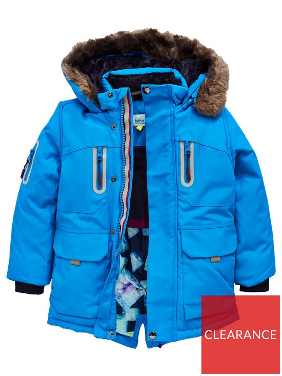 e8c6c63a1df730 Baker by Ted Baker Toddler Boys Faux Fur Hooded Parka