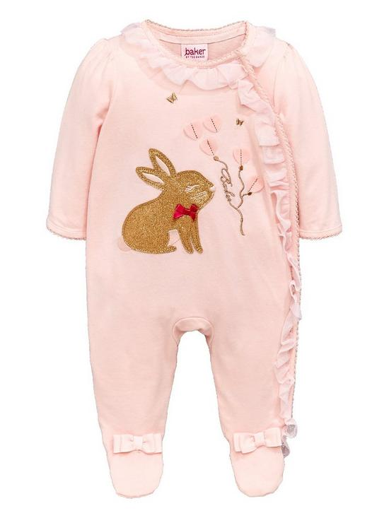 First Size 0-3 High Quality Set Of 2 Next Bunny Baby Grows Sleepsuits Girls Girls' Clothing (0-24 Months)