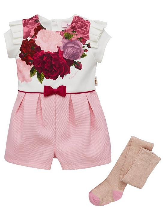 1cecd20469f5dd Baker by Ted Baker Toddler Rose Placement Playsuit