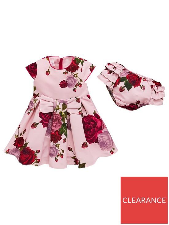872891c6e Baker by Ted Baker Baby Girls Rose Ottoman Dress   Knickers