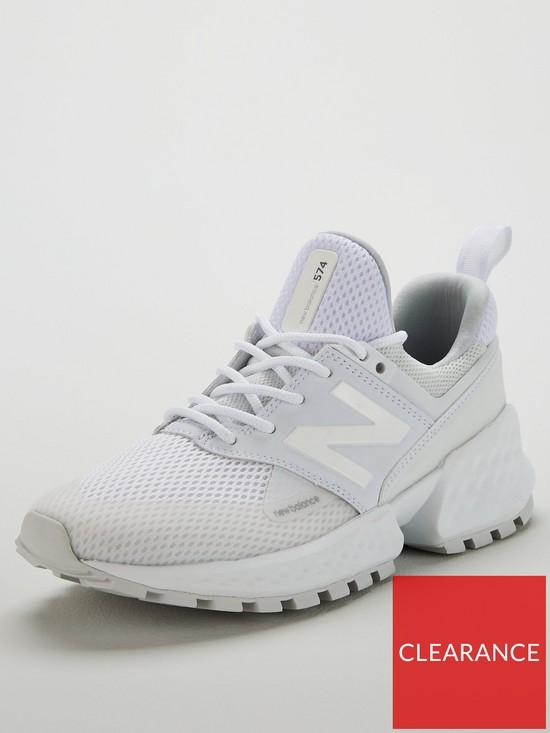 d58f2492f6a69 New Balance 574 Sport - White | very.co.uk