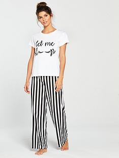v-by-very-striped-let-me-sleep-pyjama-set-monochromenbsp