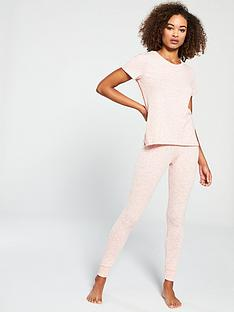 15b8e6a7cc V by Very Lightweight Knitted Lounge Set - Pink