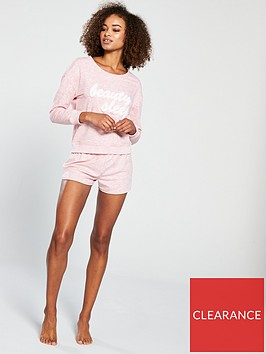 v-by-very-applique-lounge-short-set-pink