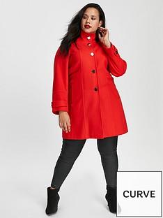 evans-funnel-neck-coat-red