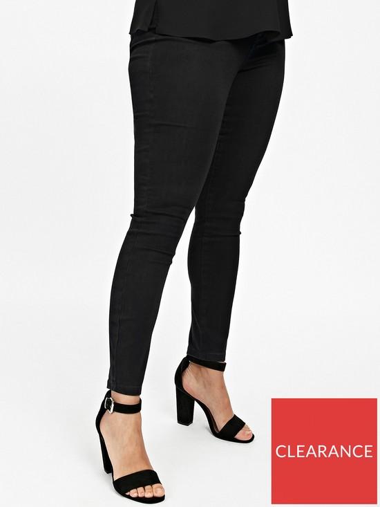 697cc8f510113b Evans Super Stretch Skinny Jean - Black