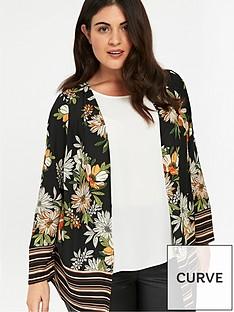 evans-floral-stripe-border-kimono-black
