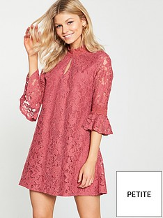 01fd0b9956c Little Mistress Petite Lace Shift Dress