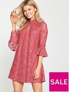 little-mistress-petite-lace-shift-dress