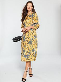 vero-moda-olivia-printed-midi-dress-golden-nugget