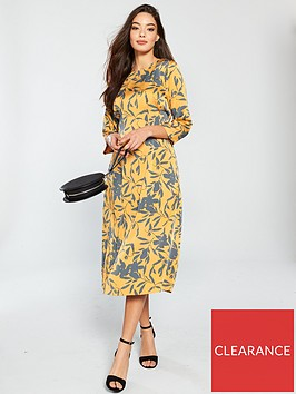 vero-moda-olivia-printed-midi-dress-golden-nugget