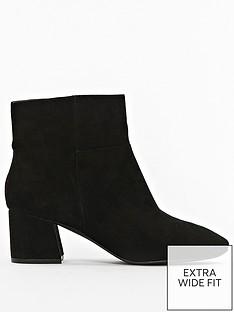 evans-extra-wide-fit-microfibre-block-heel-ankle-boot-black
