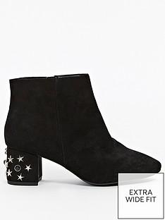 evans-extra-wide-fit-star-embellished-heel-ankle-boot-black