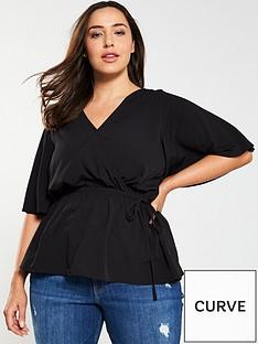 v-by-very-curve-wrap-kimono-sleeve-top-black
