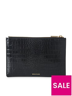 whistles-whistles-shiny-leather-croc-design-small-clutch