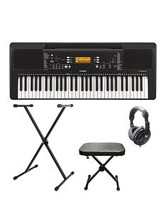 yamaha-yamaha-psre363-portable-keyboard-with-stand-bench-headphones-and-online-lessons