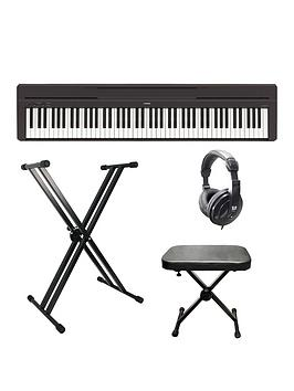 yamaha-yamaha-p45-compact-p-series-digital-piano-with-stand-bench-headphones-and-online-lessons