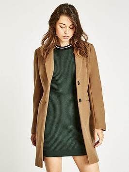 Jack Wills Chelsea Wool Blend Overcoat - Camel