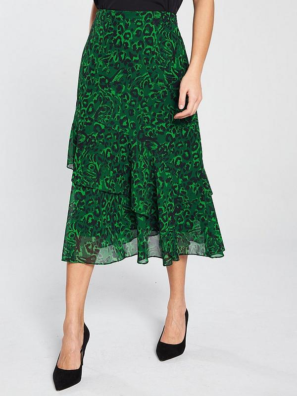 144e7a6cc WHISTLES Jungle Cat Print Midi Skirt | very.co.uk