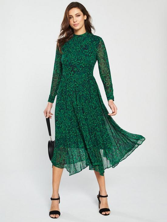 4ac5c0ad2ef0 WHISTLES Jungle Cat Print Midi Dress