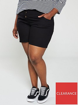 v-by-very-curve-high-waisted-buttoned-denim-shorts-black