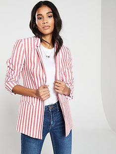16f69dca50 V by Very Stripe Linen Blazer