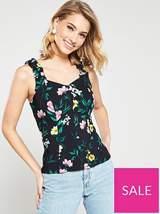 v-by-very-ruffle-printed-button-through-cami-top