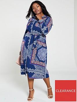 v-by-very-curve-printed-belt-shirt-maxi-dress-navy