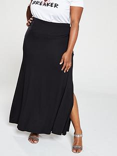v-by-very-curve-jersey-maxi-skirt