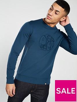 pretty-green-applique-crew-sweater-blue