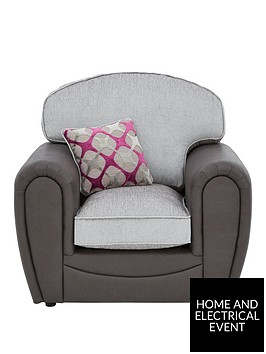 moreno-faux-snakeskin-and-fabric-armchair
