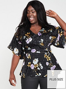 v-by-very-curve-button-detail-kimono-sleeve-blouse-floral-print