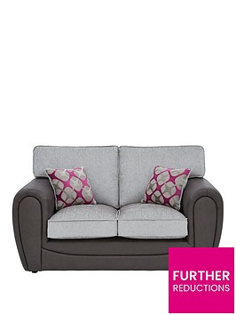 moreno-faux-snakeskin-and-fabric-2-seater-standard-back-sofa