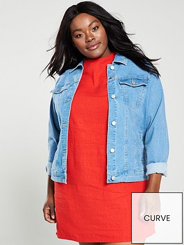 v-by-very-curve-longlinenbsprolled-up-denim-jacket-light-wash