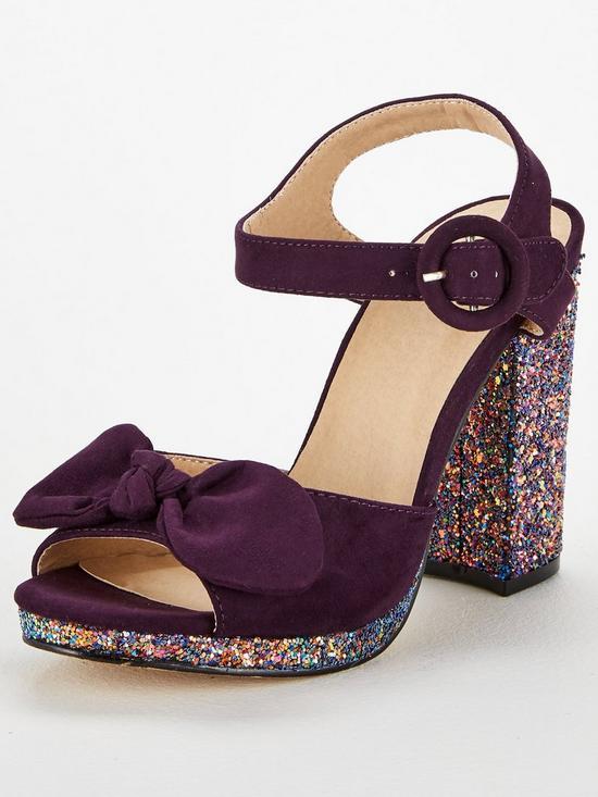 71d4e6aa650 Oasis Bow Glitter Heel