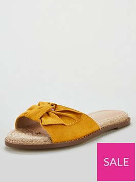 v-by-very-henrietta-knotted-bow-flat-espadrillenbspslider-yellow