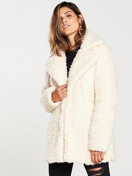 v-by-very-teddy-revere-collar-coat-cream