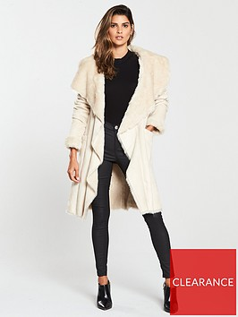 v-by-very-faux-shearling-waterfall-coat-cream