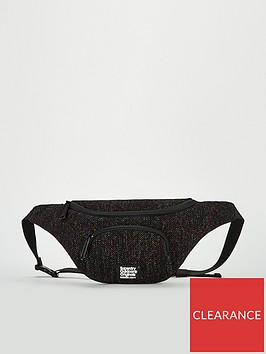 superdry-metallic-knit-zipper-buckle-bum-bag-black