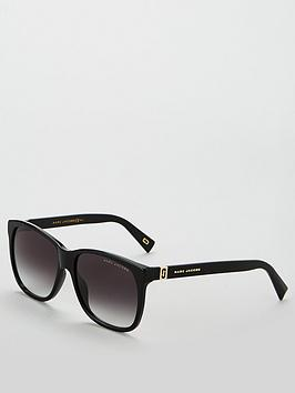 marc-jacobs-thick-rectangle-ombreacutenbspsunglasses-black