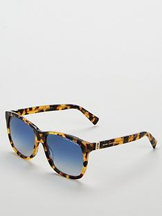 marc-jacobs-tortoise-blue-lens-rectangle-sunglasses-brown
