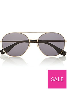 marc-jacobs-squared-aviator-sunglassesnbsp--blackgold