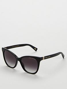 cbe8360b3d9 MARC JACOBS Thick Rectangle Sunglasses - Black
