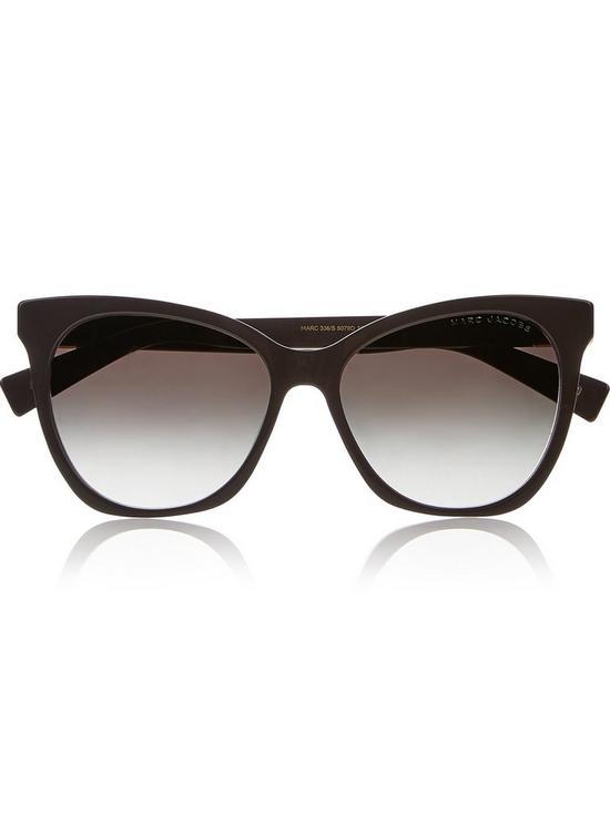 1cd4d1864e5e MARC JACOBS Square Cat Eye Sunglasses - Black