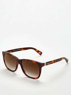 2c09c722c1be MARC JACOBS Tortoise Rectangle Sunglasses - Brown