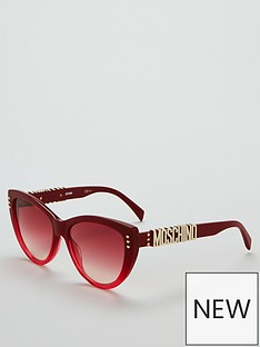 moschino-red-cateye-logo-arm-sunglasses