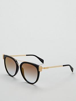 moschino-browbarnbsplogo-ombreacute-sunglasses-blackgold