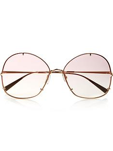 max-mara-pink-lens-round-sunglasses