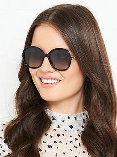 max-mara-black-round-sunglasses